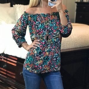 New York and Company Off the Shoulder Top